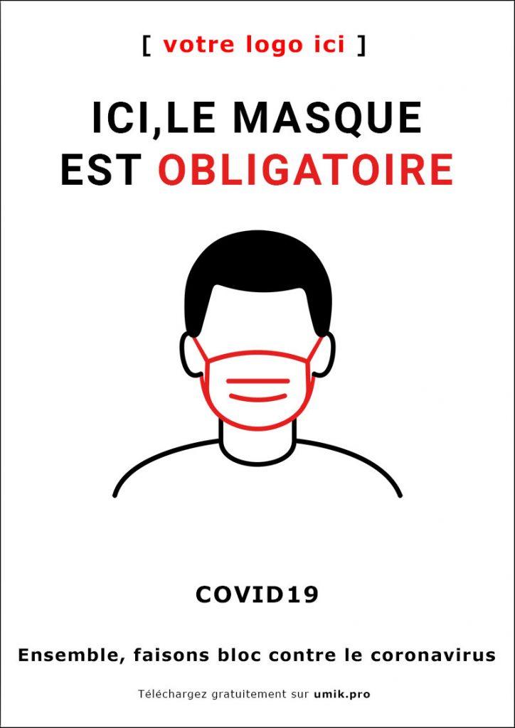Affiche masque obligatoire
